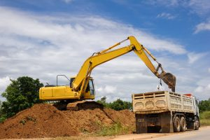 loading procedures with dirt and truck
